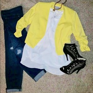 H&M Yellow Blazer
